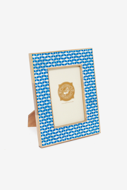 blue chevron photo frame