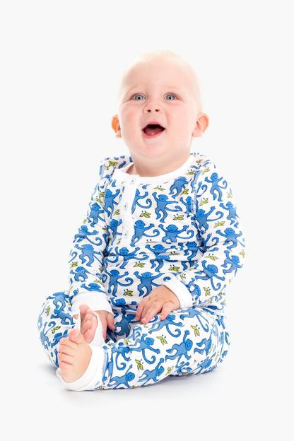 kids monkey pajama set