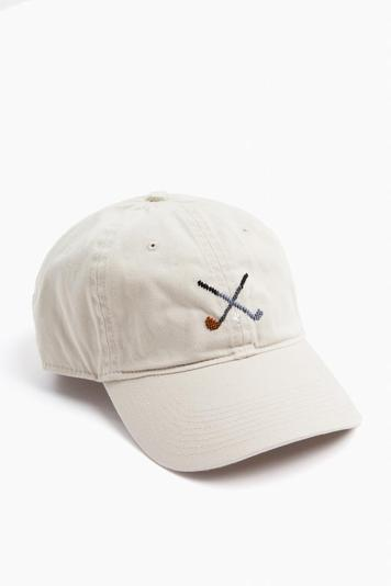 crossed clubs needlepoint hat