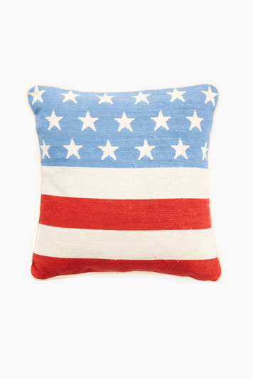 stars and stripes needlepoint pillow
