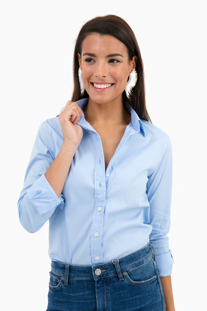 dawn blue essential icon shirt