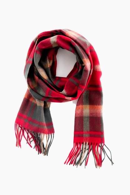 barbour dark maple shilhope check scarf