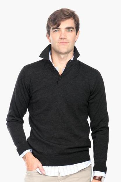 barbour charcoal eastnor long sleeve polo