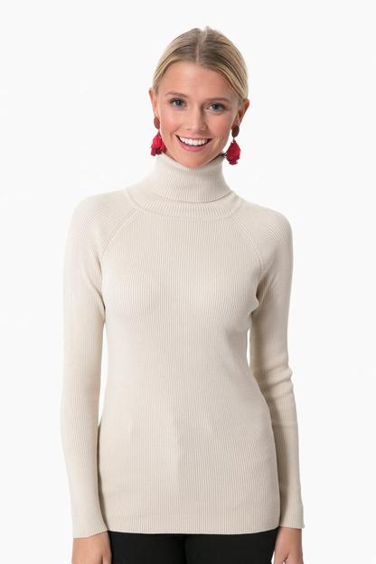 French Vanilla Sonia Ribbed Turtleneck