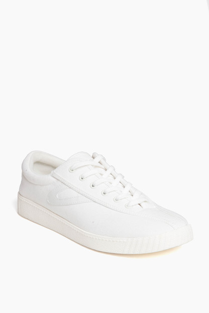 Women's White Nylite Plus Canvas Sneakers