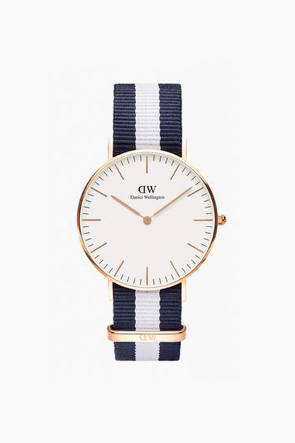 classic 36mm rose gold glasgow watch