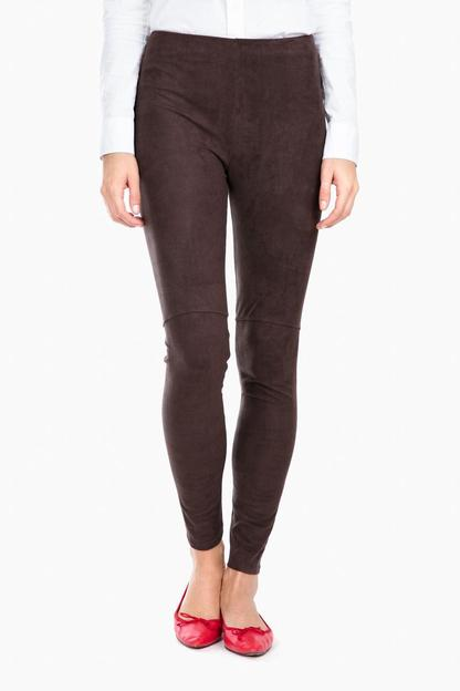 espresso high waist suede leggings