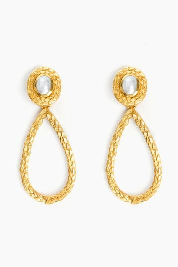 gold penelope statement earrings