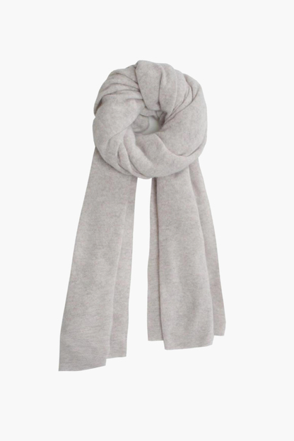 gray heather cashmere travel wrap