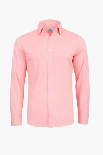 bright coral captiva gingham button down shirt
