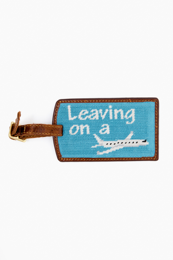 leaving on a plane luggage tag