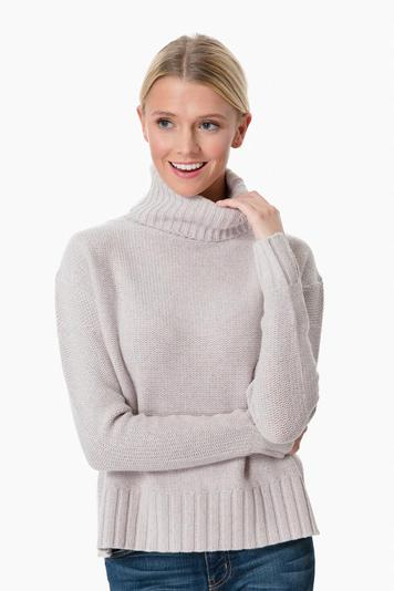 luxe wool turtleneck pullover