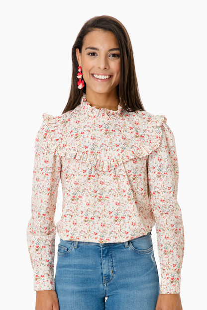 floral long sleeve brittany top