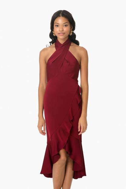 boswell high-low dress