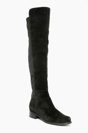 black suede velma boots
