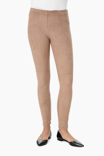 latte suede leggings