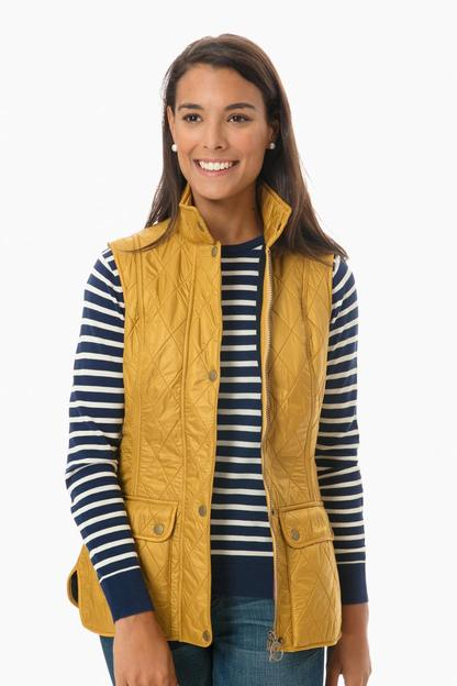 barbour harvest gold wray gilet