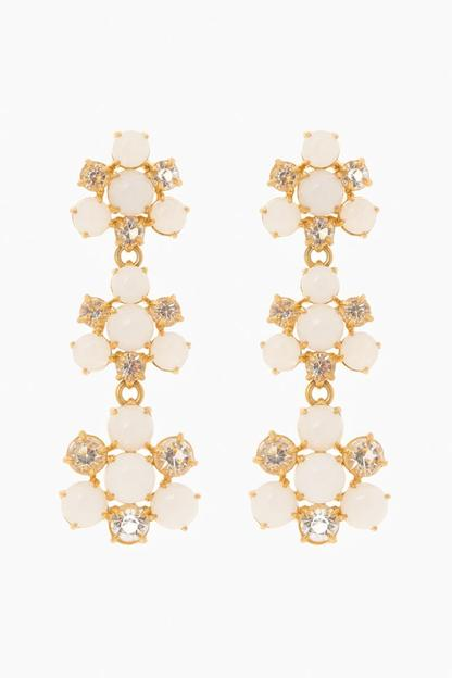 white atrium earrings