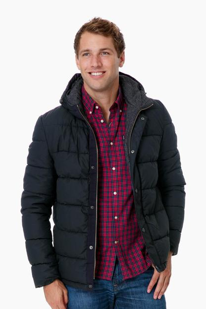 barbour navy wareford jacket