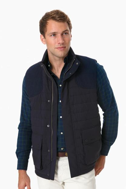 barbour navy bradford gilet