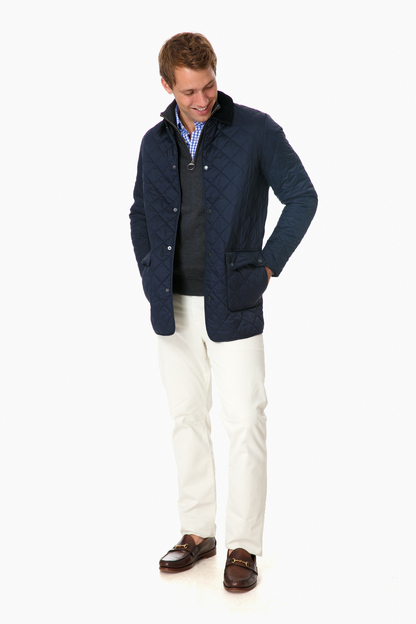 barbour navy thurland quilt