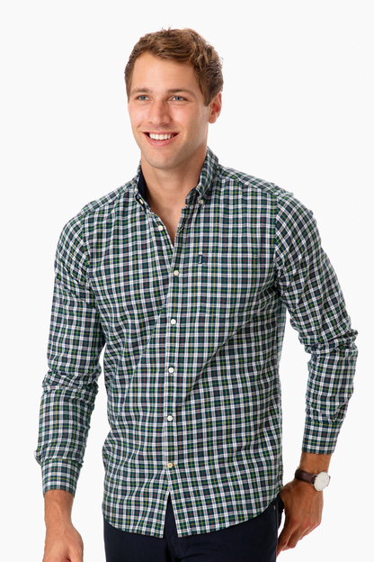 barbour green dalton button down
