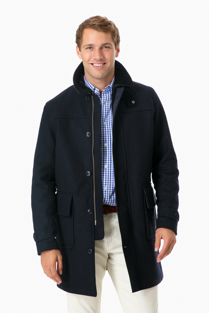 barbour navy abbeystead jacket