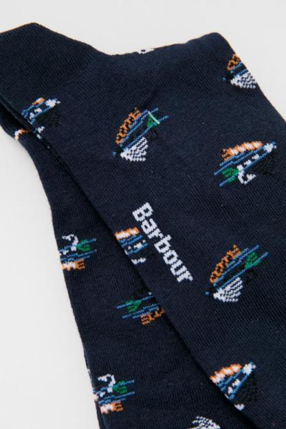 barbour navy fly fish socks