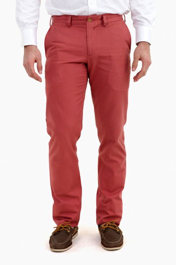 weathered red-straight fit-vintage twill pant