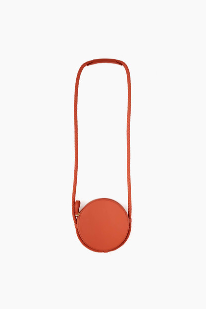 cinnamon soft leather canteen bag