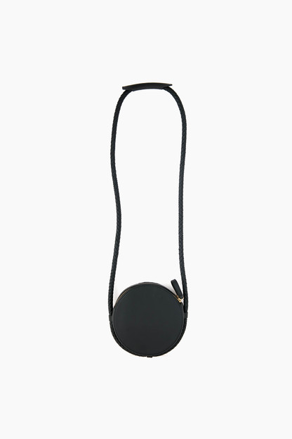 Navy Soft Leather Canteen Bag
