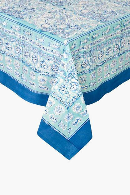 la mer round french tablecloth