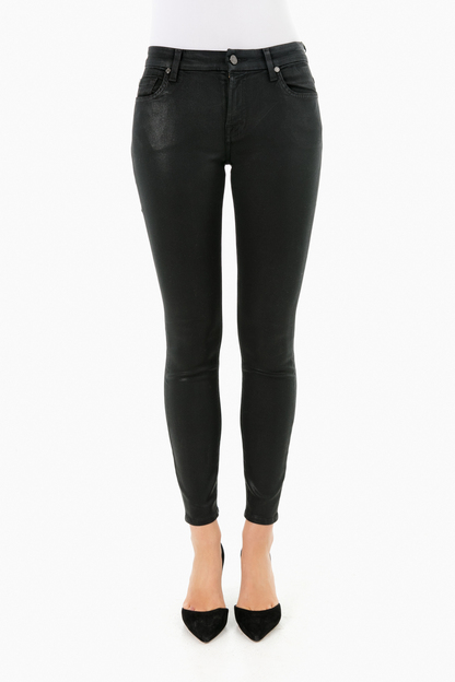 black coated fashion the ankle skinny jean
