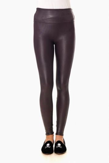 wine ready to wow faux leather leggings