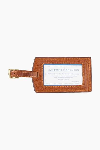 island times needlepoint luggage tag