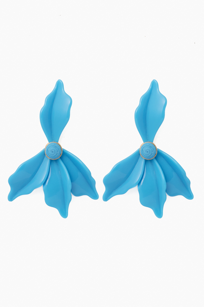 Azure Lily Earrings