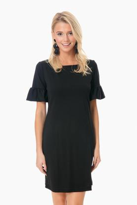 black dockside dress