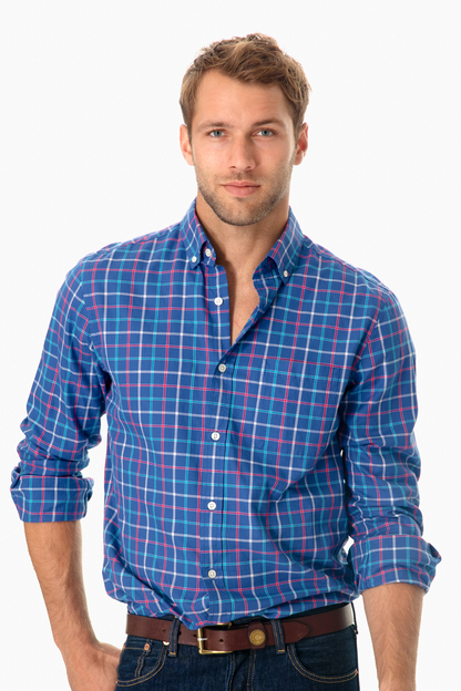 jade cove check classic fit murray shirt