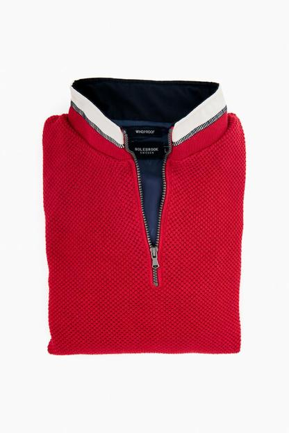 Red Classic Windproof Sweater