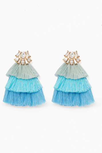 bermuda blue hula earrings