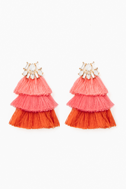 flamingo pink hula earrings