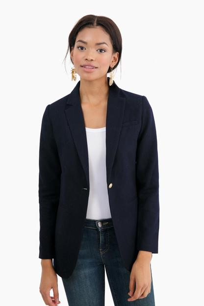 navy hunting blazer