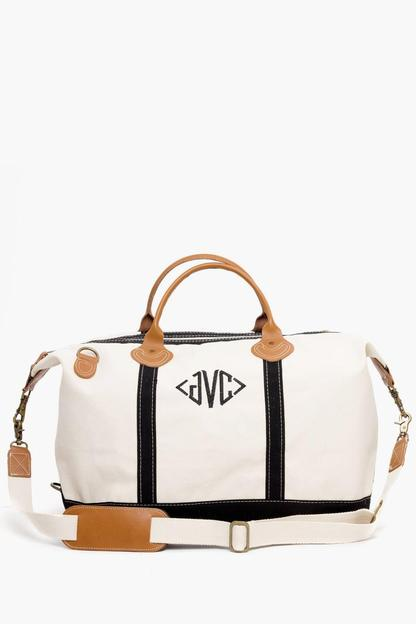 black monogrammed sunshine satchel