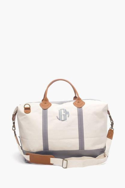 gray monogrammed sunshine satchel