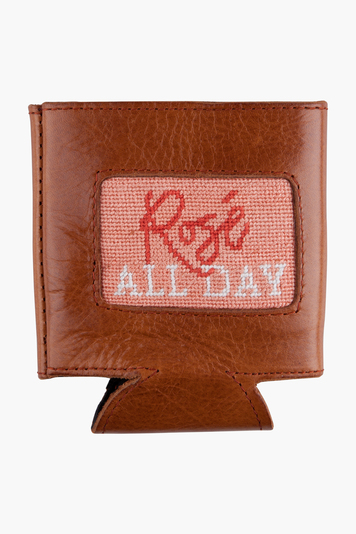 exclusive rosé all day needlepoint can cooler