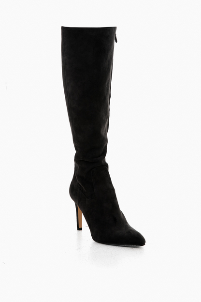 (fw18black suede olencia knee high boots