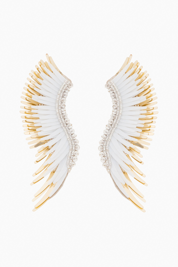 white and gold madeline earrings