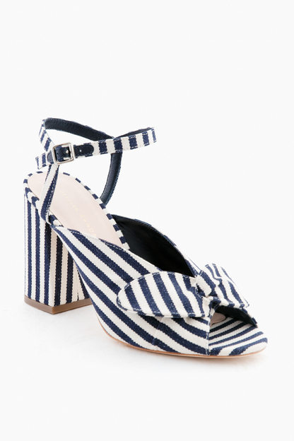 striped leigh heels