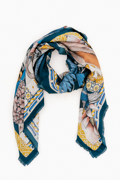 the hare's gift silk scarf