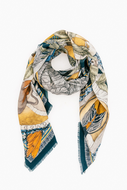 aviarium maria wool/silk scarf